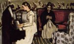 young girl at the piano by paul cezanne painting