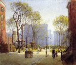 late afternoon washington square by paul cornoyer paintings