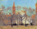 madison square on a sunny day by paul cornoyer paintings