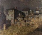 old house moonlight gloucester massachusetts by paul cornoyer paintings