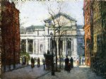 the new york library by paul cornoyer paintings
