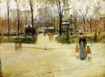 washington square by paul cornoyer paintings