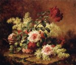 roses and mahogany by paul de longpre painting