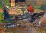 a little washerwoman by paul gauguin painting
