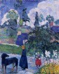 paul gauguin among the lillies painting