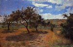 apple trees at l hermitage ii by paul gauguin painting