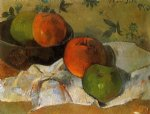 apples and bowl by paul gauguin painting