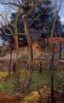 paul gauguin bare trees painting