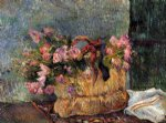 paul gauguin basket of flowers painting