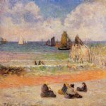 paul gauguin bathing dieppe painting