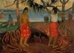 beneath the pandanus tree by paul gauguin oil paintings