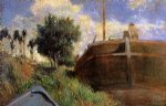 paul gauguin blue barge painting