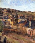 blue roofs rouen by paul gauguin oil paintings
