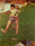 paul gauguin breton boys wrestling painting