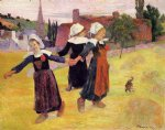 paul gauguin breton girls dancing painting