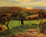 paul gauguin breton landscape painting 27589
