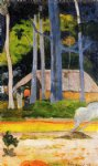 paul gauguin cabin under the trees prints