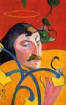 portrait paintings - caricature self portrait by paul gauguin