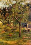 children in the pasture by paul gauguin oil paintings