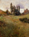 dog oil paintings - dogs running through a field by paul gauguin
