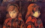 paul gauguin double portrait of a young girl mademoiselle lafuite painting 27221