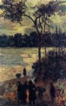 paul gauguin fire by the water painting