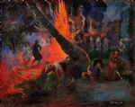 fire dance by paul gauguin oil paintings