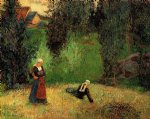 paul gauguin first spring flowers painting