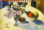 paul gauguin flowers in a fruit bowl painting 78932