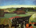 haystacks in britanny by paul gauguin oil paintings