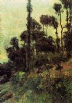 hillside by paul gauguin painting