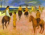 paul gauguin horsemen on the beach painting 27275