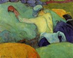 paul gauguin in the heat of the day painting