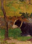 paul gauguin kneeling cow painting