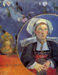 paul gauguin la belle angele painting