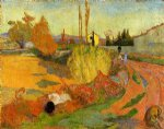 paul gauguin landscape farmhouse in arles painting