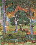 paul gauguin landscape on la dominique paintings