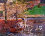 paul gauguin landscape with gees painting