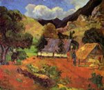 paul gauguin landscape with three figures painting
