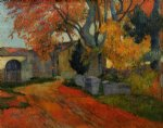 paul gauguin lane at alchamps arles painting