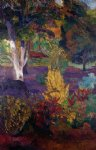 paul gauguin marquesan landscape with a horse painting