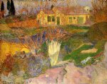 paul gauguin mas near arles painting