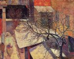 paul gauguin paris in the snow prints