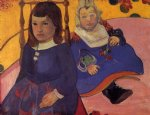 paul gauguin portrait of two children prints