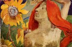paul gauguin redheaded woman and sunflowers prints