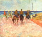 paul gauguin riders on the beach prints