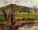 paul gauguin river aven below mount sainte prints