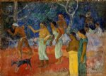 paul gauguin scenes from tahitian live painting