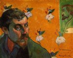 portrait paintings - self portrait les miserables by paul gauguin