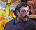 paul gauguin self portrait with yellow christ painting 27414